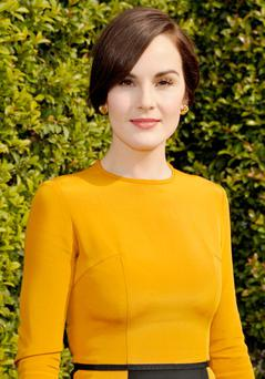 Actress Michelle Dockery attends LOVEGOLD Luncheon celebrating Michelle Dockery at Chateau Marmont on January 9, 2014 in Los Angeles, California. (Photo by John Sciulli/Getty Images for LOVEGOLD)