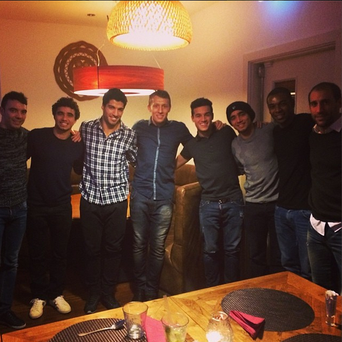 Lucas Leiva celebrating his 27th birthday with friends. (Pic credit - Instagram/leivalucas)