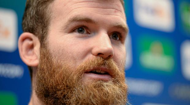 Leinster's Gordon D'Arcy during a press conference ahead of their Heineken Cup 2match against Castres on Sunday