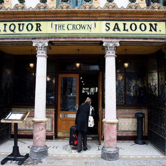 Historic pub The Crown Bar. Photo: Paul Faith/PA Wire