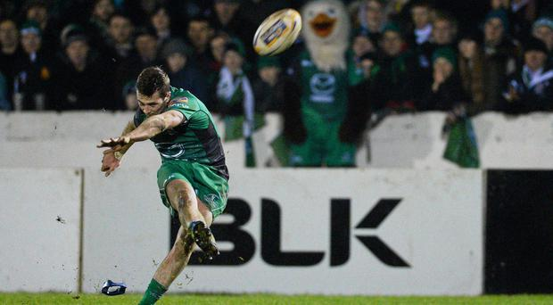 Jack Carty keeps the Connacht No.10 jersey for today's clash with Zebre