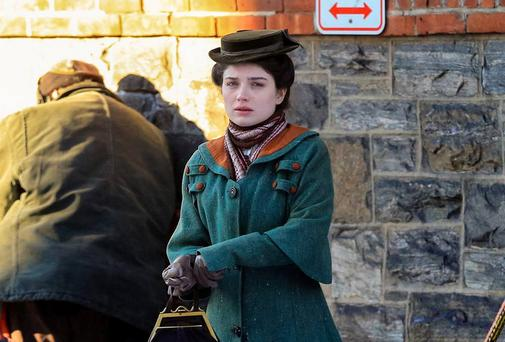 Eve Hewson films scenes for 'The Knick' in New York