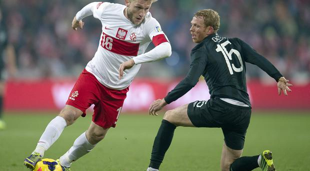 Paul Green (R) has been out of action since Ireland's 0-0 draw with Poland in November