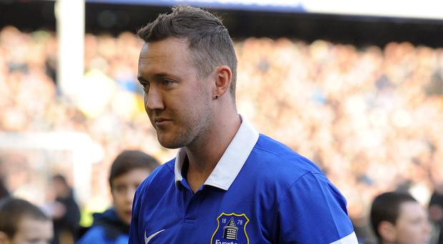 Everton's new signing Aiden McGeady was unveiled at Goodison Park yesterday