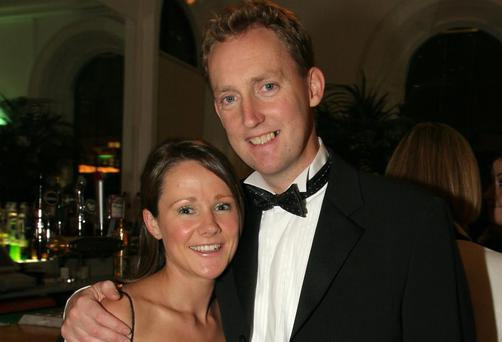 TD Barry Andrews and his wife Sinead