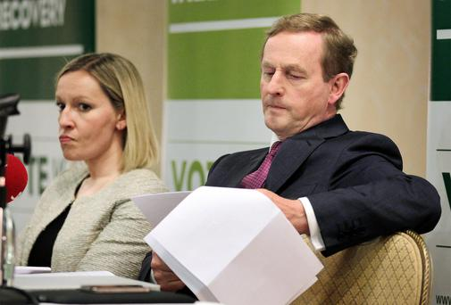 Enda Kenny pictured with Lucinda Creighton in 2012