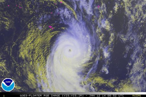 Ian, a category-four cyclone bearing down on the South Pacific island nation of Tonga with hurricane force winds