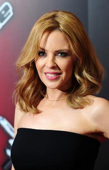 Kylie Minogue attending the launch of BBC's The Voice, London