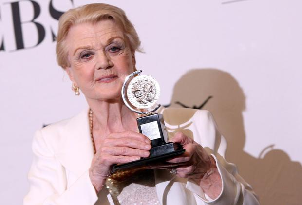 Angela Lansbury with her award for best performance in a play for 'Blithe Spirit' in the 63rd Annual Tony Awards in 2009