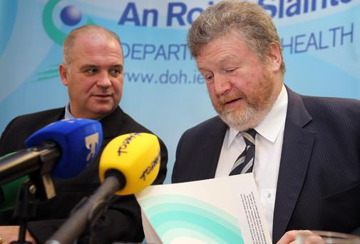 Chief Medical Officer Tony Holohan with Minister for Health James Reilly
