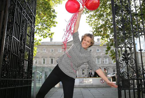Denise Charlton, chief executive of the Irish Immigrant Council, seen here promoting EU Anti-Trafficking Day in January. Photo: Frank McGrath