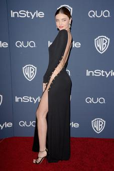 Model Miranda Kerr attends the 2014 InStyle and Warner Bros. 71st Annual Golden Globe Awards Post-Party
