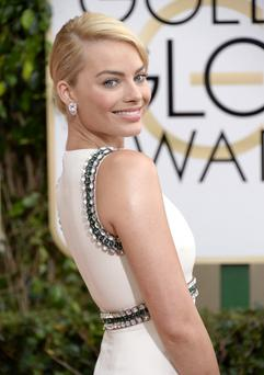 BEVERLY HILLS, CA - JANUARY 12: 71st ANNUAL GOLDEN GLOBE AWARDS -- Pictured: Actress Margot Robbie arrives to the 71st Annual Golden Globe Awards held at the Beverly Hilton Hotel on January 12, 2014 -- (Photo by Kevork Djansezian/NBC/NBC via Getty Images)