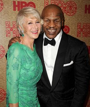 Actress Helen Mirren and Mike Tyson