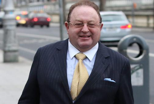 Businessman, Jim Kennedy, pictured leaving the Four Courts yesterday after a High Court action. Photo: Collins