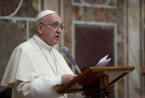 Pope Francis criticised abortion as evidence of a throw-away culture