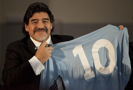 Football legend Argentinian Diego Maradona