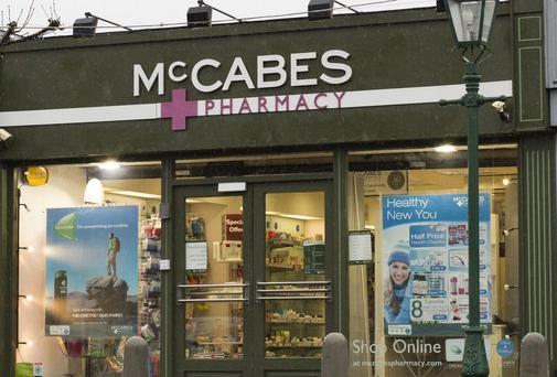 McCabes pharmacy in Malahide.