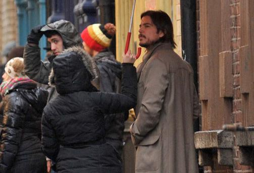 "Hollywood actor Josh Hartnett filming the new Production ""Penny Dreadful"",in Dublin's Temple Bar"