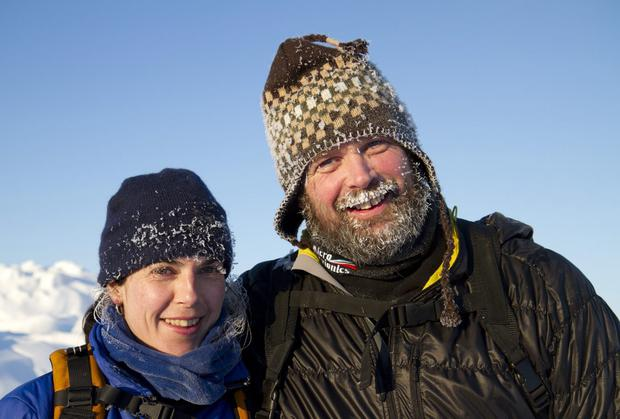 Adventurers Mike O'Shea and Dr Clare O'Leary.