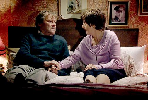 Not just frothy issues: 'Corrie's' Roy and Hayley are in an assisted-suicide storyline