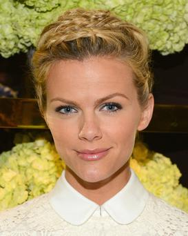 Model/actress Brooklyn Decker shows off her pixie crop