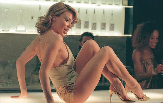 Kylie Minogue in her gold hotpants in Spinning Around
