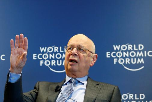 World Economic Forum (WEF) Executive Chairman and founder Klaus Schwab addresses a news conference in Cologny, near Geneva, January 15, 2014. This year's World Economic Forum Annual Meeting is called 'The Reshaping of the World: Consequences for Society, Politics and Business' and it will be held from January 22 to 25, 2014 in the Swiss alpine resort of Davos.
