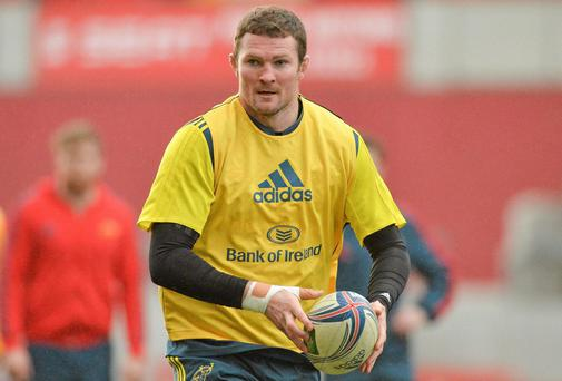 Donnacha Ryan misses the game with a foot injury