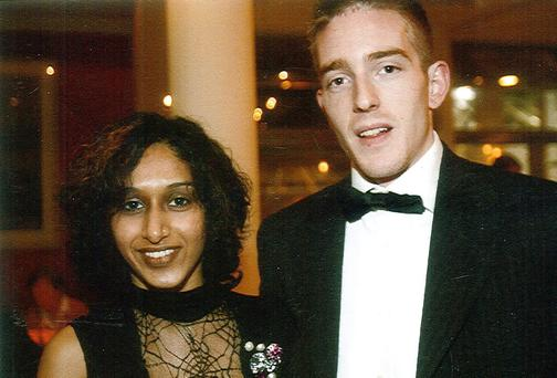 Dhara and Michael Kivlehan.