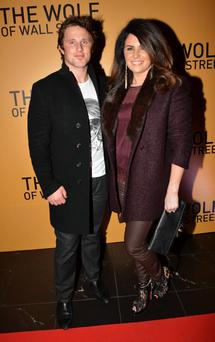 Richard Keatley and Lisa Cannon arrive at the Irish Premiere of 'The Wolf of Wallstreet' at The Savoy, Dublin, Ireland : Cathal Burke / VIPIRELAND.COM