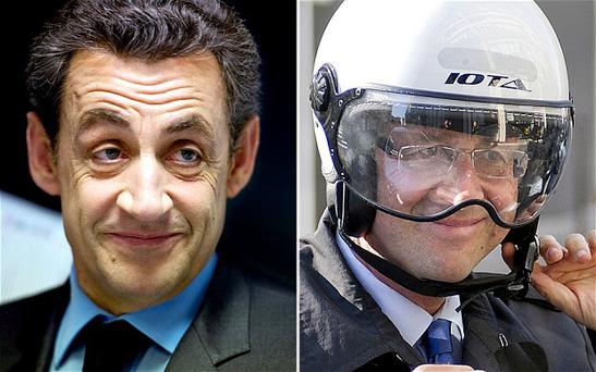 "Former president Nicolas Sarkozy, left, thinks Francois Hollande has made the French presidency look ""ridiculous"" Photo: GETTY IMAGES"