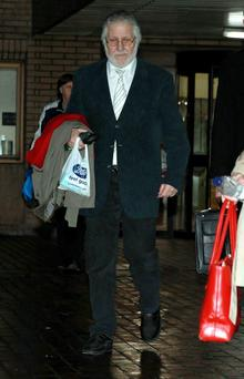 DJ Dave Lee Travis leaving Southwark Crown Court, London, where he is accused of a series of indecent assaults and one sexual assault.