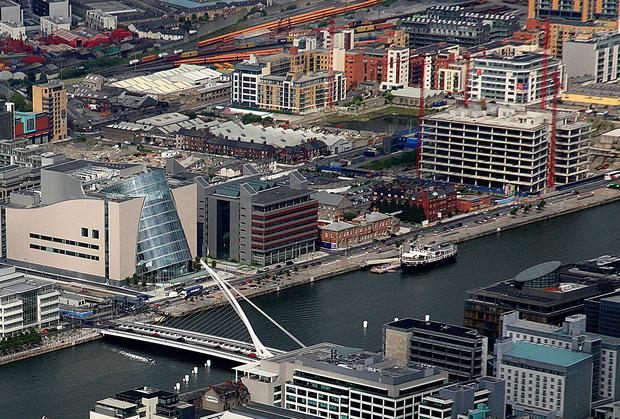 Finance Minister Michael Noonan believes Nama can help to ensure that areas like Dublin's Docklands can benefit from an upturn in the property sector. Photo: MAXPIX