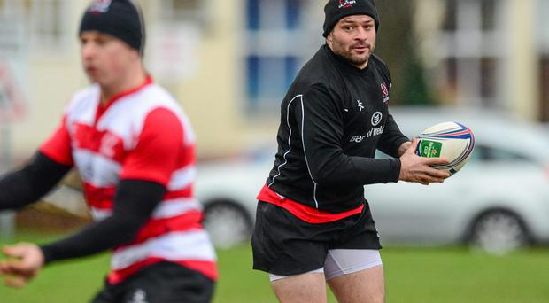 Ulster's Rory Best in action during squad training