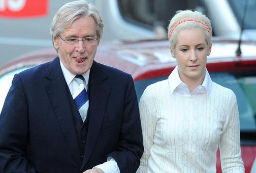 Coronation Street star William Roache arrives at Preston Crown court with daughter Verity