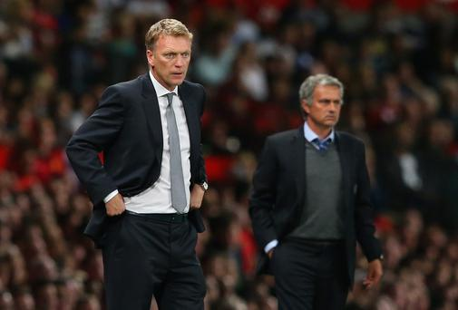 David Moyes and Jose Mourinho