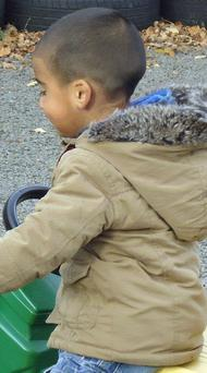 An undated family handout photo which has been issued by Police Scotland of missing three-year-old Mikaeel Kular. He is wearing the brown jacket which he is believed to have been wearing when he went missing. Photo: Police Scotland/PA Wire