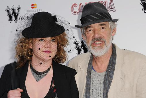 Roger Lloyd-Pack with his daughter Emily Lloyd in 2012