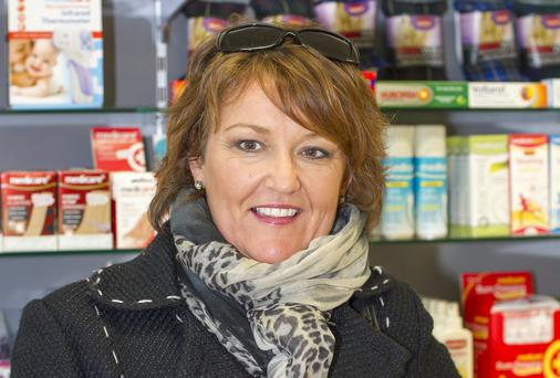 Mary Keys in Healthwave pharmacy at Dundrum town centre. Photo: Mark Condren