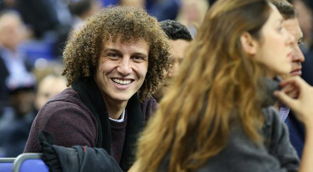 LONDON, ENGLAND - JANUARY 16: David Luiz of Chelsea smiles before the Eastern Conference NBA match between Brooklyn Nets and Atlanta Hawks at O2 Arena.