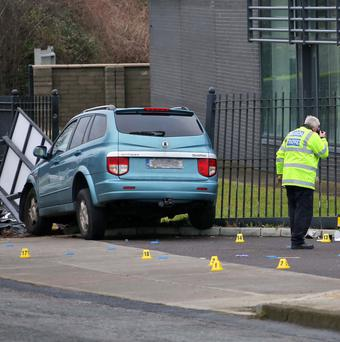 North County Dublin just after midday today where a female pedestrian in her 30 was killed, and a young child was seriously injured. Picture Colin Keegan, Collins Dublin.