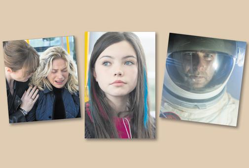 New age: From left: Scenes from new RTÉ drama 'Amber' and the film 'Last Days on Mars' which was directed by Ruairí Robinson. RTÉ