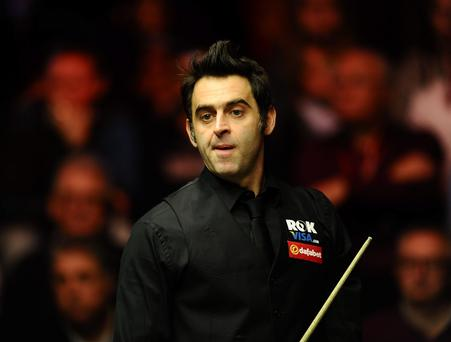 Ronnie O'Sullivan during the 2014 Dafabet Masters at Alexandra Palace, London. PRESS ASSOCIATION Photo. Picture date: Friday January 17, 2014. See PA story SNOOKER Masters. Photo credit should read: Adam Davy/PA Wire