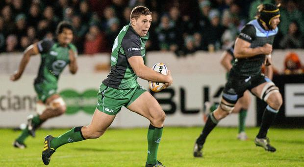 Craig Ronaldson of the Connacht Eagles in action against Glasgow Warriors
