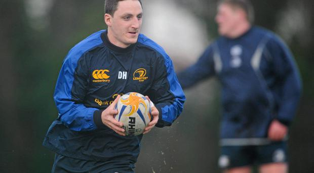 Leinster's Darren Hudson in action during squad training