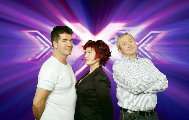 Simon Cowell, Sharon Osbourne and Louis Walsh ahead the 2005 series.
