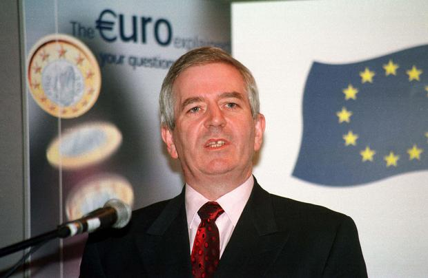 Minister for finance Charlie McCreevy TD launching the European Movement Booklet