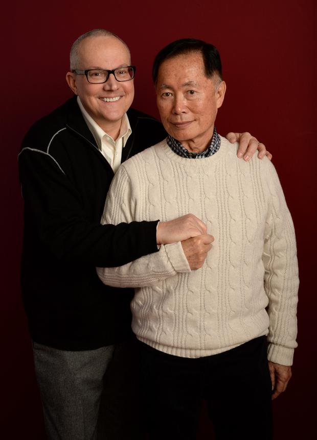 Actor George Takei (R) and Brad Takei (Photo by Larry Busacca/Getty Images)