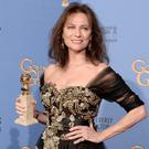 Actress Jacqueline Bisset poses in the press room during the Golden Globe Awards